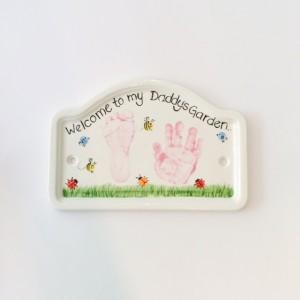 Daddy's garden plaque
