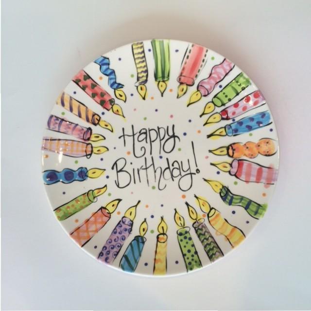 Happy birthday plate & Happy birthday plate u2013 Manic Ceramics