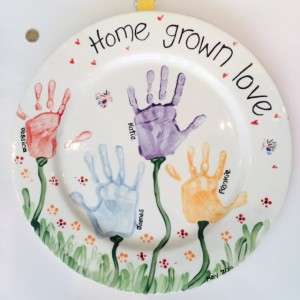 Home grown love large plate