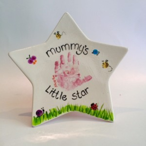 Mummy's little star plate