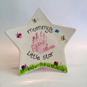 Mummy's little star plate