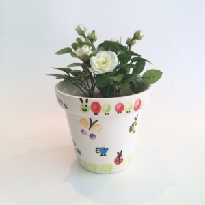 Watch us grow small planter